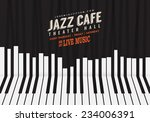 jazz music  poster background... | Shutterstock .eps vector #234006391
