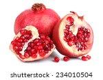 juicy ripe pomegranates ... | Shutterstock . vector #234010504