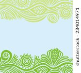floral nature pattern card... | Shutterstock .eps vector #234014971