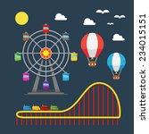 flat design of carnival... | Shutterstock .eps vector #234015151