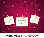 valentine card | Shutterstock .eps vector #23401825