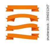 orange ribbons | Shutterstock .eps vector #234021247