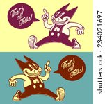 that's all folks  vintage... | Shutterstock .eps vector #234021697
