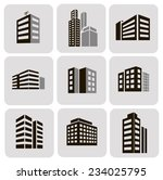 buildings  web sticker icons... | Shutterstock . vector #234025795