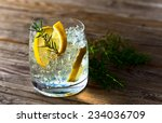 Alcoholic Drink With Lemon And...