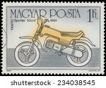 hungary   circa 1985  a stamp... | Shutterstock . vector #234038545
