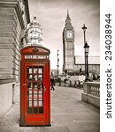 Vintage Photo Of Red Telephone...