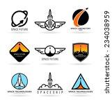 astronautics. spaceships  4  | Shutterstock .eps vector #234038959