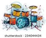 drum set | Shutterstock .eps vector #234044434