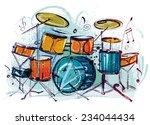 drum set | Shutterstock .eps vector #234044434