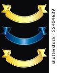 vector ribbon banner on black... | Shutterstock .eps vector #23404639