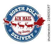 north pole delivery grunge... | Shutterstock .eps vector #234053197