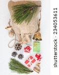 Christmas Gunny Sack With...