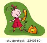 girl talking on the phone | Shutterstock . vector #2340560
