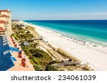 long stretch of miramar beach ... | Shutterstock . vector #234061039