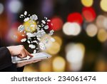 businesswoman making money...   Shutterstock . vector #234061474