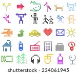 isolated pictures about life of ... | Shutterstock . vector #234061945