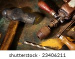 dirty and stained work table... | Shutterstock . vector #23406211