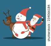 santa claus  reindeer and... | Shutterstock .eps vector #234066184