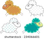 silhouette of a ram gold and... | Shutterstock .eps vector #234066601