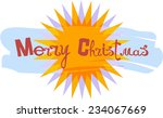 merry christmas. banner. the... | Shutterstock .eps vector #234067669