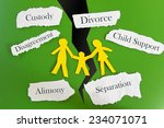 paper cutout family with... | Shutterstock . vector #234071071