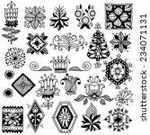 hand drawn vintage doodle... | Shutterstock .eps vector #234071131