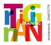 vector training. broken text   Shutterstock .eps vector #234071779
