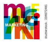 vector marketing. broken text
