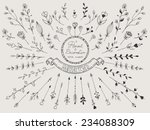 hand drawn vintage set of... | Shutterstock .eps vector #234088309