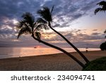 Sunset In Kaanapali  Maui With...