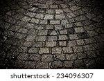 Dark Wet Cobblestone Background ...