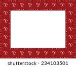 christmas candy cane frame...   Shutterstock .eps vector #234103501
