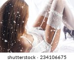 young and sexy woman in white... | Shutterstock . vector #234106675
