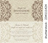 antique baroque invitation card ... | Shutterstock .eps vector #234111424