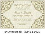 antique baroque invitation ... | Shutterstock .eps vector #234111427