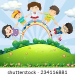 illustration of children... | Shutterstock .eps vector #234116881