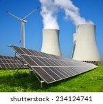 solar energy panels  wind... | Shutterstock . vector #234124741