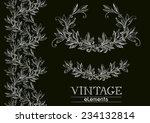 vector laurel wreath. vector... | Shutterstock .eps vector #234132814