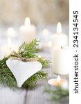 christmas scene  candles with...   Shutterstock . vector #234134545