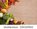 healthy food background  ... | Shutterstock . vector #234135961