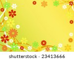 abstract floral background.... | Shutterstock .eps vector #23413666