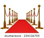 golden rope barrier with red... | Shutterstock . vector #234136705