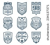 soccer emblems in flat style | Shutterstock .eps vector #234137371