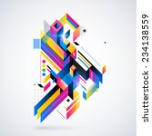 abstract geometric element with ... | Shutterstock .eps vector #234138559