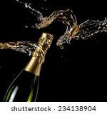 champagne bottle splash  close... | Shutterstock . vector #234138904