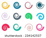 set of colorful spiral icons on ... | Shutterstock .eps vector #234142537