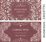 set of vintage invitation cards ... | Shutterstock .eps vector #234147751