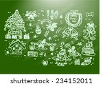 merry christmas  sketch   Shutterstock .eps vector #234152011
