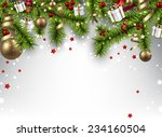 winter banner  with spruce... | Shutterstock .eps vector #234160504
